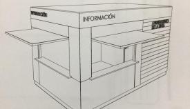 Boceto del módulo que instalará el Ayuntamiento de La Línea