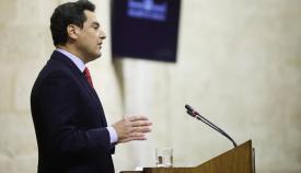 Juanma Moreno, hoy en sede parlamentaria