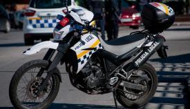 Una motocicleta de la Policía Local de La Línea