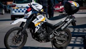 Una motocicleta de la Policía Local de La Línea de la Concepción