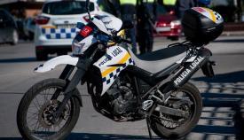 Una motocicleta de la Policía Local de La Línea. Foto: NG