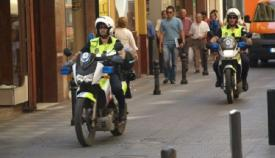 Dos motocicletas de la Policía Local de Algeciras. Foto: algeciras.es