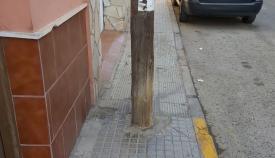 Uno de las muchas barreas que IU y Podemos denuncian en La Línea. Foto: NG