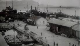 Muelle de la Galera en 1924. Archivo APBA