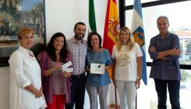 El alcalde, Juan Franco, ha recibido hoy a las promotoras del evento