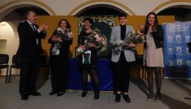 Un momento del homenaje a las tres mujeres