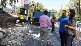 Comienzan las obras para reconstruir el muro de la antigua biblioteca