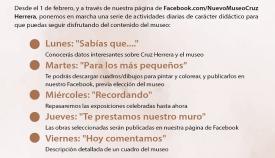 Este será el calendario de las actividades virtuales. Foto: lalínea.es