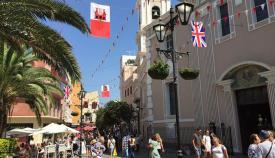 Adornos para el National Day en Gibraltar