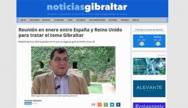 Imagen de la información que adelantó Noticias Gibraltar