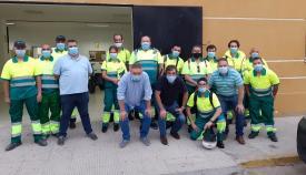 La plantilla de la empresa que realizará dichas labores. Foto: lalínea.es