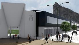 Este podría ser el aspecto exterior del Nuevo Estadio Municipal de La Línea. Foto: lalínea.es