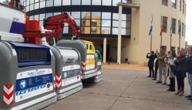 Los contenedores se han presentado esta mañana en La Línea
