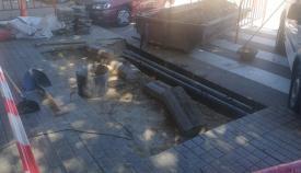 Obras en la Avenida del Ejército, en La Línea