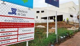 Una imagen de la obra de esta residencia en La Línea. Foto: NG