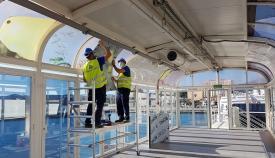 Mejoran los túneles de embarque de la Estación Marítima de Algeciras