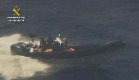 Cuatro detenidos y una tonelada de hachís incautada en el Estrecho
