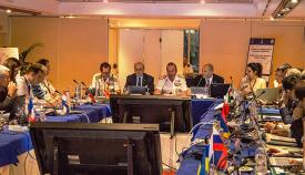 Participantes en la XXI Conferencia de la CHMMN, esta mañana en Cádiz. Foto Cuartel General de la Flota