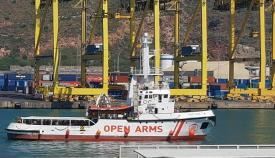 """El barco """"Open Arms"""""""