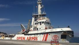 El Open Arms, en una imagen de archivo