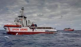 El Open Arms, en alta mar