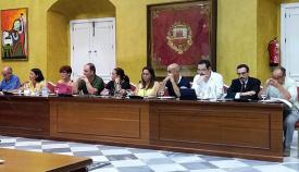 Concejales de la oposición en un pleno de San Roque en una imagen de archivo