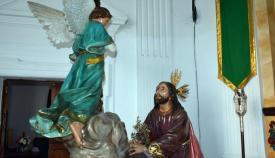 Imagen de la Oración en el Huerto en su lugar de culto