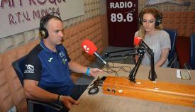 Óscar Higuera, en los estudios de la televisión de San Roque