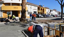 Aspecto de las obras en Pueblo Nuevo de Guadiaro