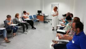 Imagen de una de las sesiones celebradas en el hospital linense