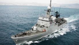 El patrullero 'Infanta Cristina' despliega en el Estrecho. Foto ARMADA