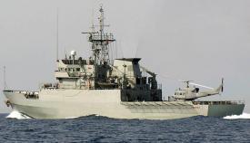 """El patrullero de altura """"Serviola"""", activado en el Estrecho. Foto MOPS/EMAD"""