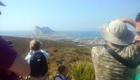 La visita discurrió por un paraje desde el que se podían observar estas vistas