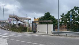 La parada de autobús de Taraguilla que la Junta quiere mejorar este año