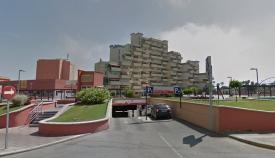 Uno de los parkings del centro de La Línea. Foto: NG