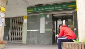 Entrada de una de las oficinas del Servicio Andaluz de Empleo (SAE)