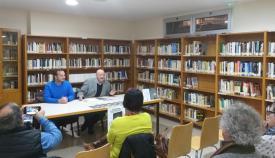 Patricio González y Daniel Pérez durante la presentación del libro