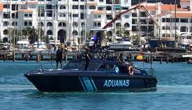 Patrullera española en Marina Bay en Gibraltar. Foto NG