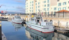 El HMS Sabre, ya atracado a puerto en Gibraltar. Foto InfoGibraltar