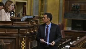 Pedro Sánchez, en una comparecencia reciente en el Congreso