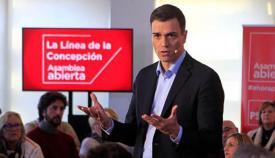 Pedro Sánchez, en el PSOE de La Línea