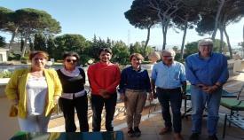 El candidato de Ciudadanos por Algeciras, con los miembros Andalucia Bay 20.30