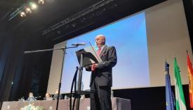 Pepe Torres, esta mañana durante su discurso. Foto: lalínea.es
