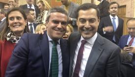 José Ortiz con el presidente de la Junta de Andalucía, Juan Manuel Moreno