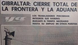 El cierre de la frontera en la prensa de la época