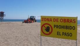El perfilado ya ha comenzado en el litoral de La Línea. Foto: lalínea.es