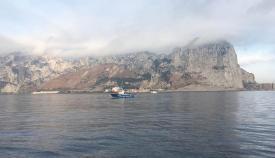 Un pesquero, cerca de la costa de Gibraltar