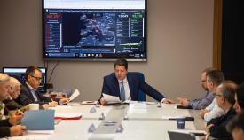 Picardo con los miembros del Gobierno gibraltareño. Foto RRSS