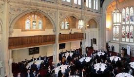 Picardo, ante los representantes de los servicios financieros en Londres. Foto InfoGibraltar