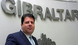 Fabian Picardo en la sede del gobierno de Gibraltar